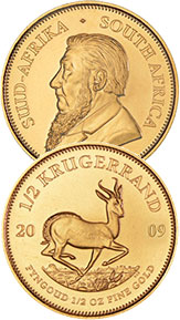 Krugerrand Goldmünze 1/2oz.
